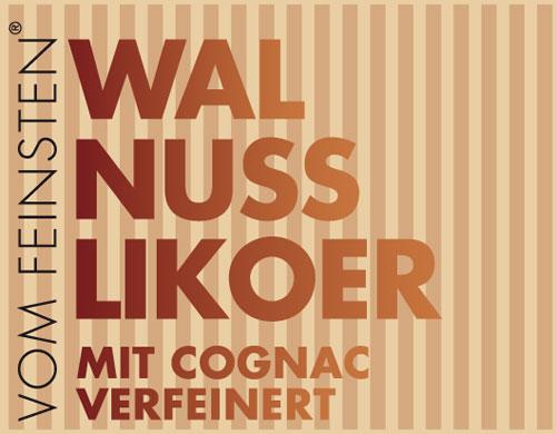 Walnuss Likör mit Cognac verfeinert
